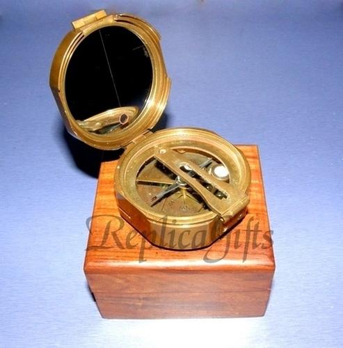 Antique Brunton Compass With Box
