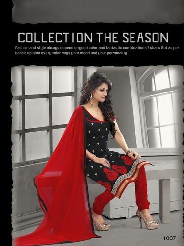 Elegant Black cotton designer salwar kameez