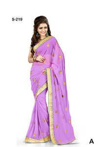 Buy stylish Purple Printed party wearb saree
