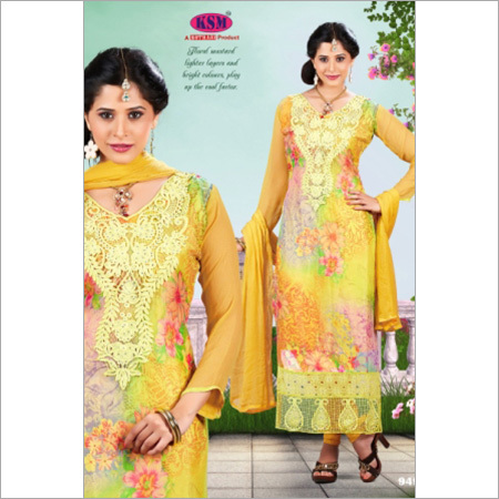 Digital Yellow Salwar Suit