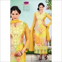 Digital Yellow Salwar Suit