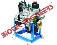 4 Stroke 4 Cylinder Petrol Actual Cut Section Engine Model