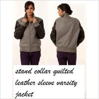 Quilted Sleeves Varsity Jackets