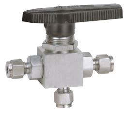 Panel Mounting  THREE WAY Ball Valve