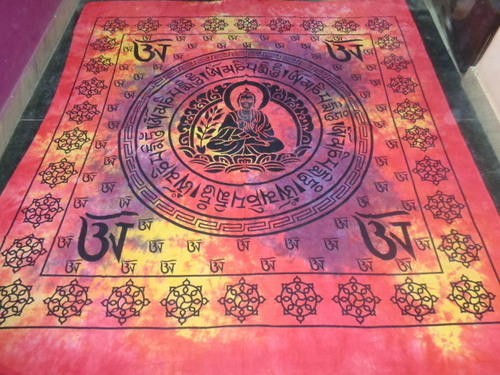 MULTI COLOURS BUDDHA TAPESTRY FROM INDIA