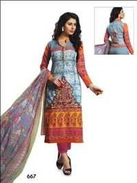 Printed Designer Dress Material