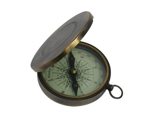 Brass Antique Pocket Compass