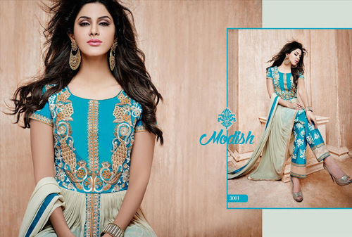 Buy new blue patiyala salwar kameez