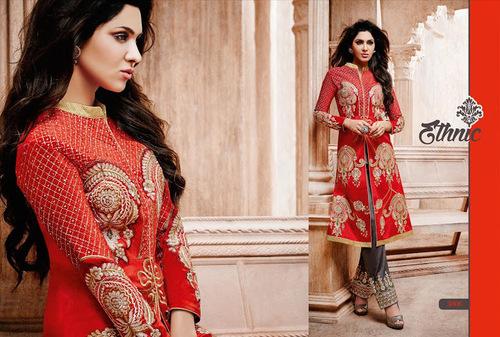 Elegant Red Patiyala salwar kameez