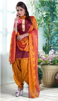 Beautiful maroon cotton salwar kameez