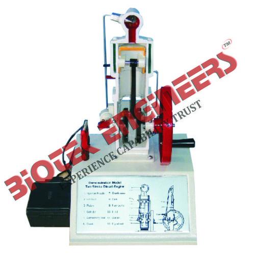 Sectional Working Model of 2 Stroke DieselEngine