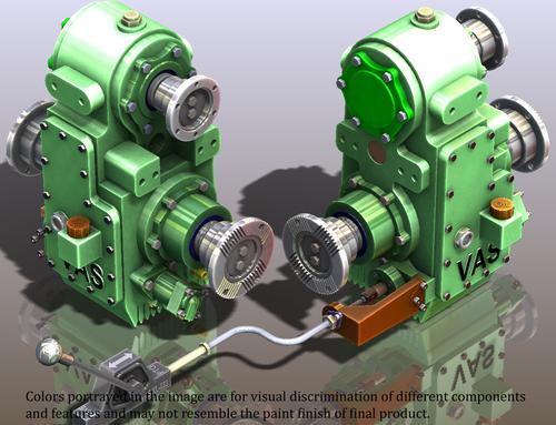 VAS V6+DH-PN PTO GEAR BOX FOR 180 HP FIRE FIGHTING VEHICLES TATA, AL, AMW 2516,2518,2521