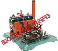 Steam Engine Model with a Boiler