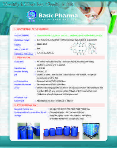 Chlorhexidine Gluconate IP