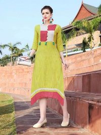 Ladies 6001-6007 khadi kurti catalog buy now