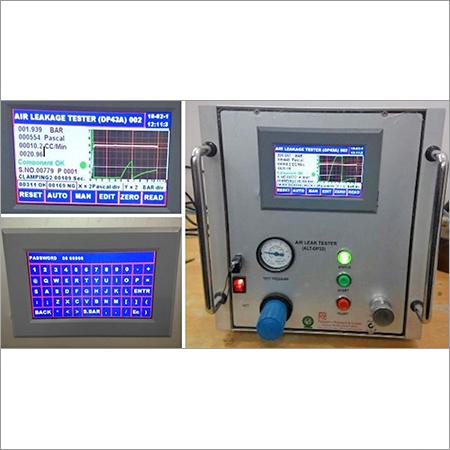 Leakage Test System HMI Touchscreen Type