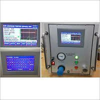 Leakage Test System HMI Touchscreen Type