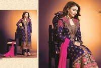 Elegant dark blue embroidery salwar kameez
