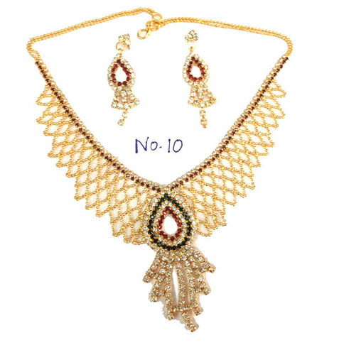 Faux Diamond Jewellery-Necklace Set