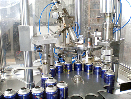 Automatic Aerosol Can Filling Machine