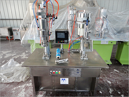 Semi Automatic Bag On Valve Filling Machine