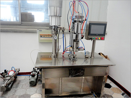 Semi Automatic Under Cap Aerosol Filling Machine