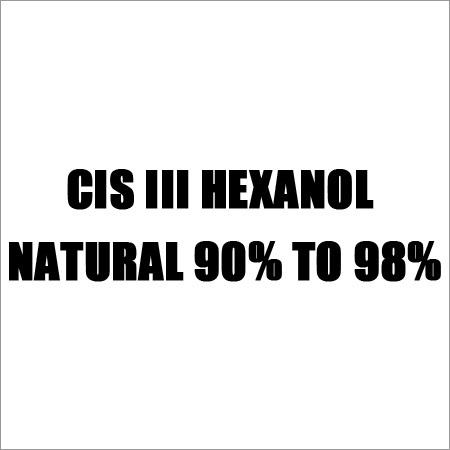 CIS III Hexanol Natural 90% To 98%