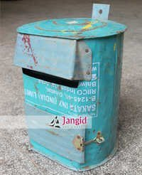 Indian Recycled Old Metal Sheet Letter Box