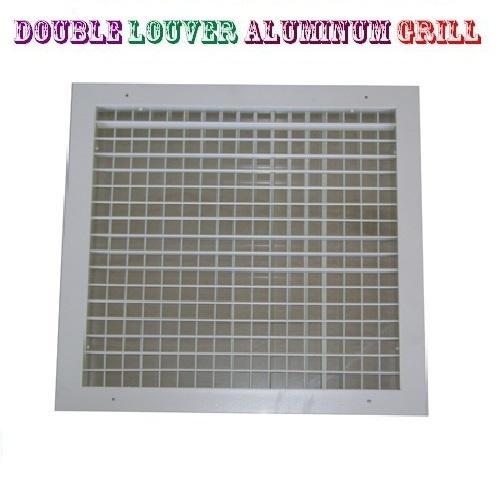 Double Louver Aluminum Grill