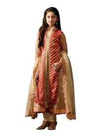 Orange Gerorgette Party Wear Dress for Girl