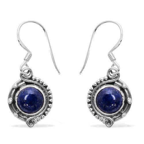 Lapis Lazuli Gemstone Silver Earring