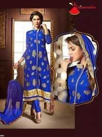 Light Blue Watermelon Straight Embroidered Suit