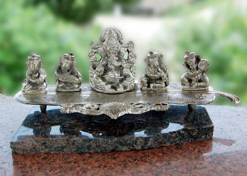 Musical Ganesha Fibre Statues