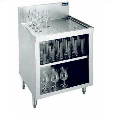 Drain Board Glass Storage Unit