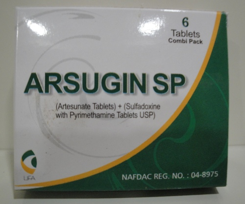 Arsugin SP (Combipack) (Artesunate Tablets) +  (Sulfadoxine and Pyrimethamine Tablets USP)