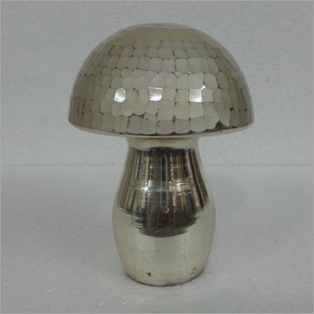 Bronze Crackle Glass Mushroom
