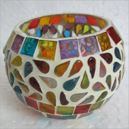 Mosaic Glass T Light Holder