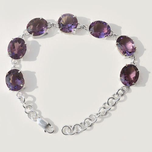 Amethyst Gemstone Silver Bracelete