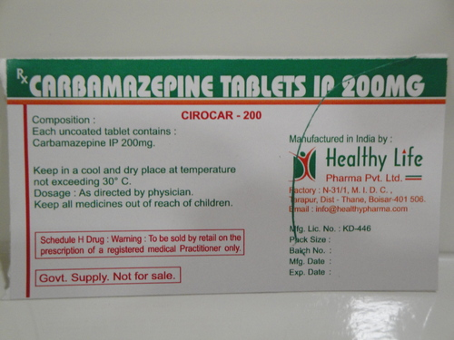 Carbamezapine Tablets IP 200 mg