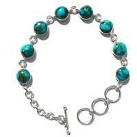 Turquoise Gemstone Silver Bracelete