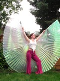 Multi Green Silver Belly Dance ISIS Wing