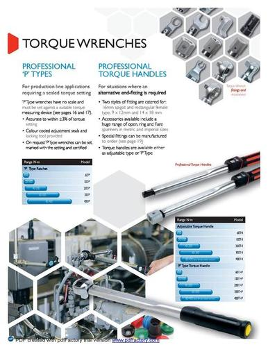 Torque Handles & End Fittings