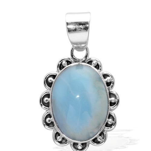 Larimar Gemstone Silver Pendant