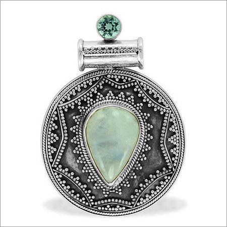 Moonstone Gemstone Silver Pendant