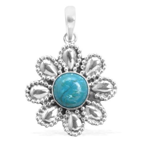 Turquoise Gemstone Silver Pendant