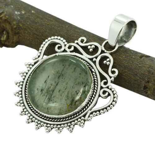 Black Rutile Gemstone Pendant