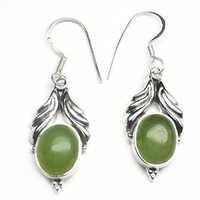 prehnite Gemstone Silver Earring