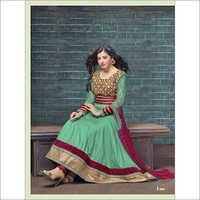 Buy green cotton anarkali salwar kameez