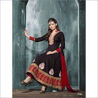 Black cotton beautiful anarkali salwar kameez