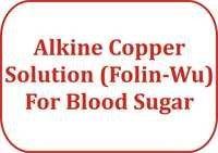 Alkine Copper Solution (Folin-Wu) For Blood Sugar